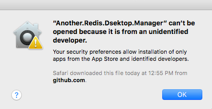 can't be opened because it is from an unidentified developer