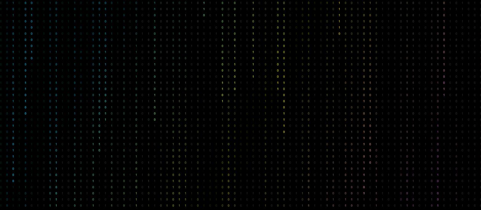 黑客数字雨源代码-彩色动态效果