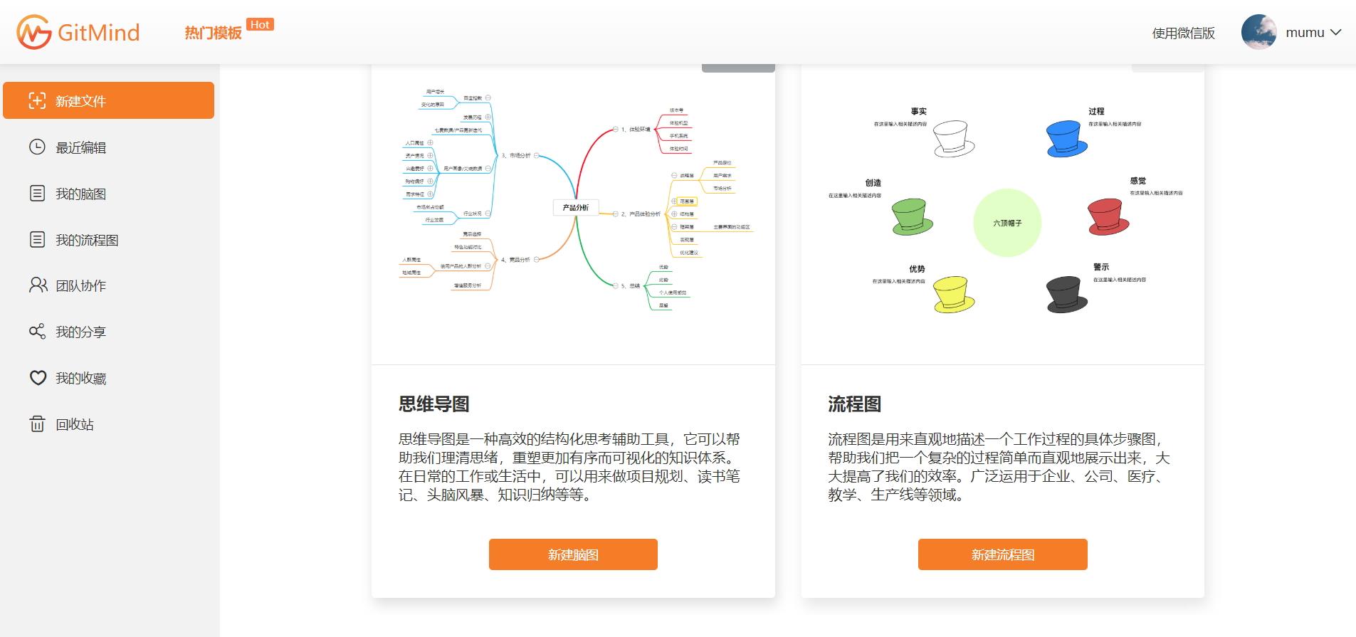 GitMind:简单轻便、云端智能思维导图、流程图一体化工具