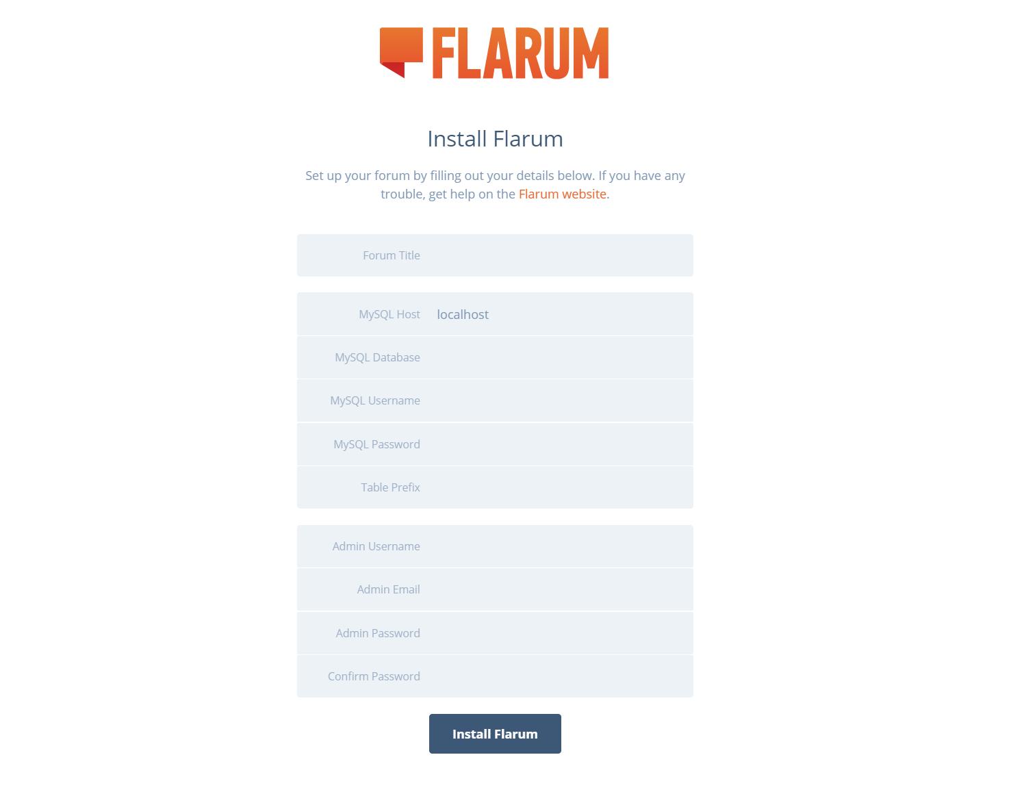 Flarum安装